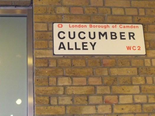 Cucumber Alley, London. Ailish Sinclair | Author