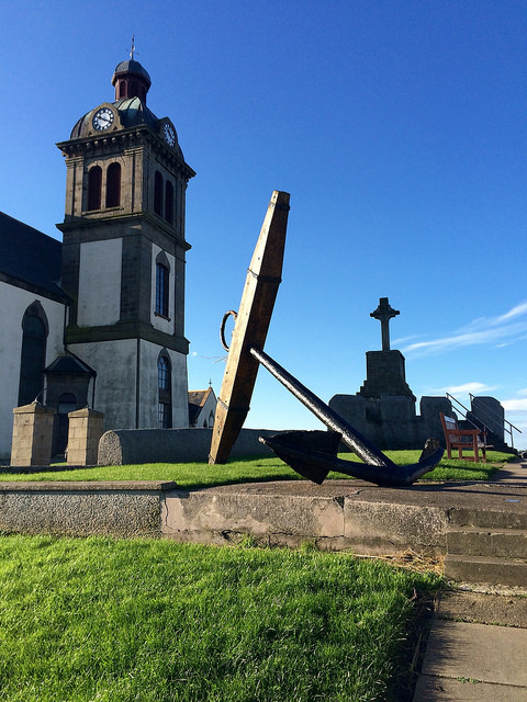 Macduff, anchor and church