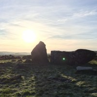 stone circles in winter