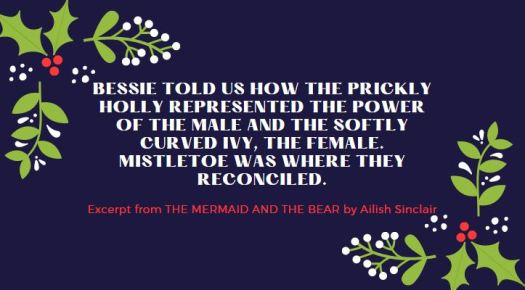 Festive quote from THE MERMAID AND THE BEAR by Ailish Sinclair