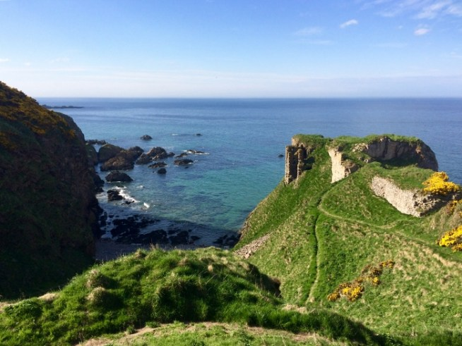 Findlater Castle on the cliffs. Ailish Sinclair | Writer