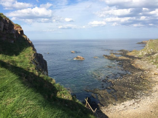Peering over the edge at Findlater Castle on the cliffs. Ailish Sinclair | Writer