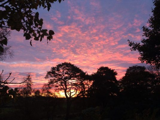 A pink sunrise in Scotland. Ailish Sinclair | Writer
