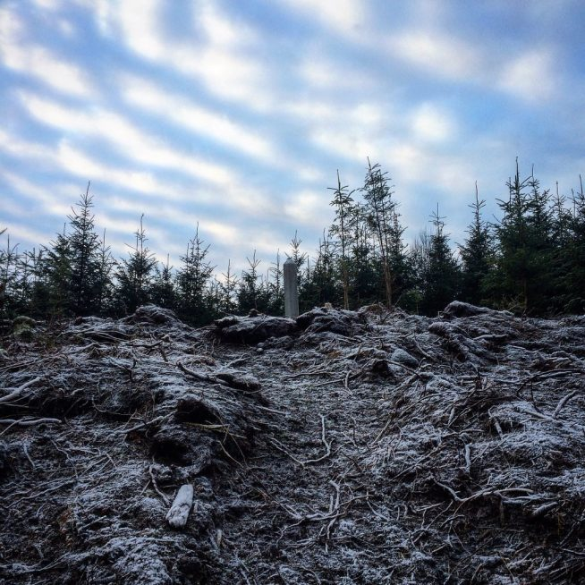 Frosty hill leading up to the Witch Stone. Ailish Sinclair | Writer