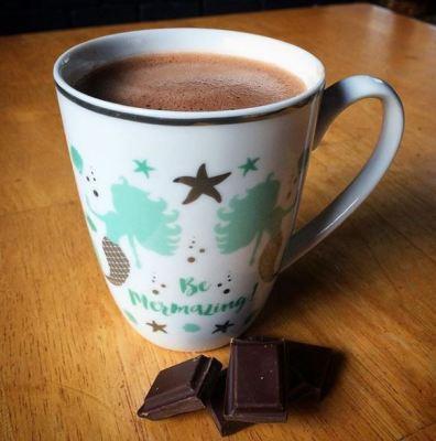 Hot chocolate in a mermaid mug! Ailish Sinclair | Castles in the Snow