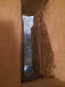 Tiny and narrow window in a 17th century prison