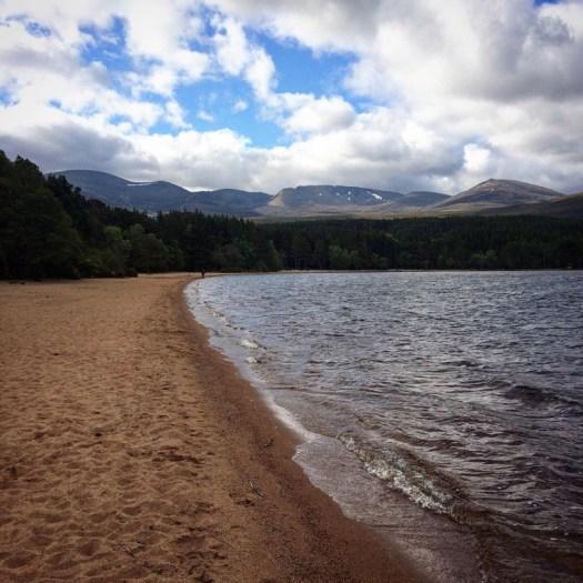 The Cairngorms beyond Loch Morlich