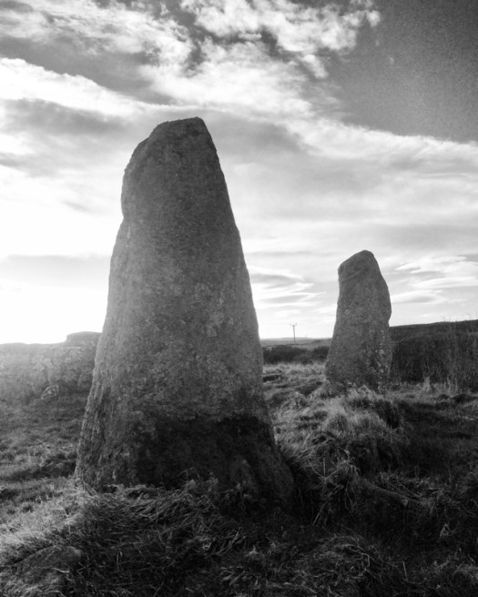 Two tall stones at Aikey Brae stone circle