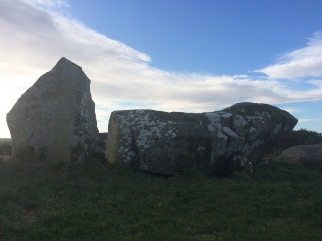 Recumbent stone at Aikey Brae