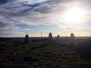 Aikey Brae stone circle ahead!