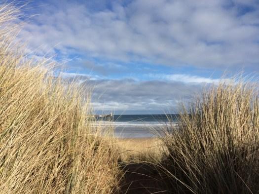 Social distancing in teh dunes at Fraserburgh