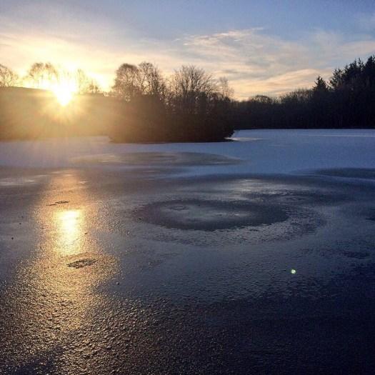 A Scottish snowy scene, Strichen Lake