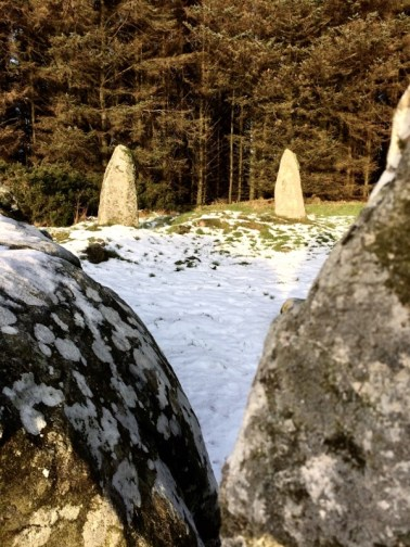 stone circle in the snow