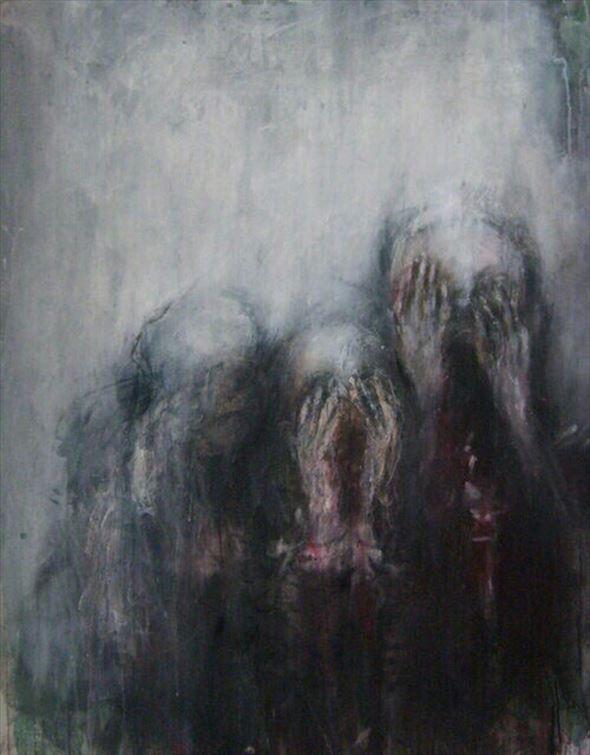 心が乱されるダークな怖いイラスト作品(57枚)