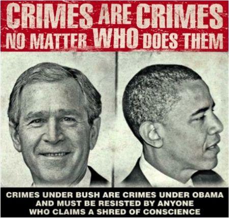 War Crimes Bush Obama