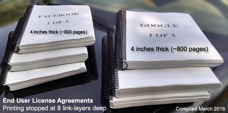 Facebook Google License Agreements