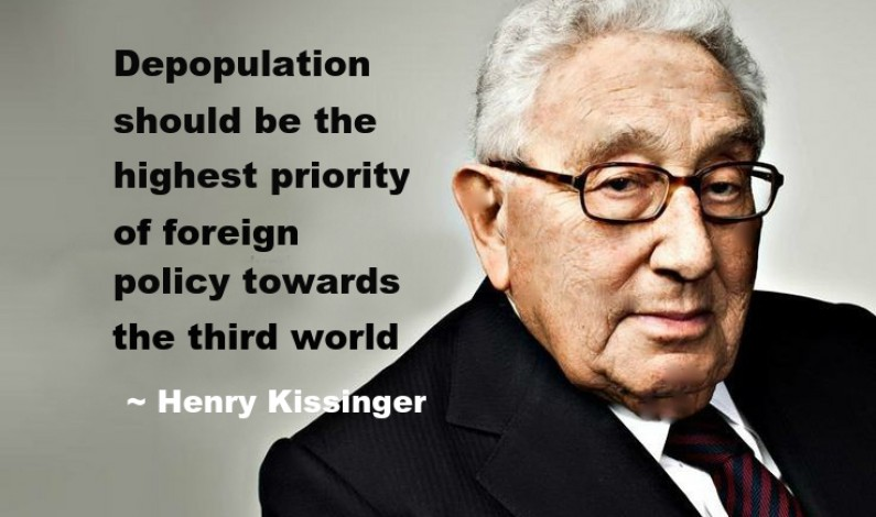 Henry Kissinger depopulation