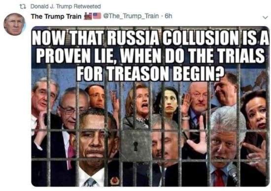 trump train treason tweet