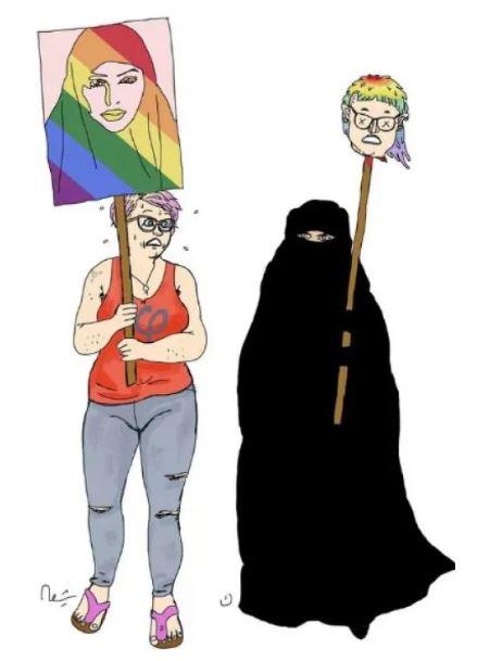 burka head