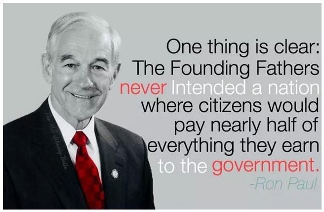 income tax ron paul