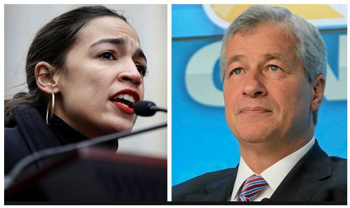 jamie dimon and aoc