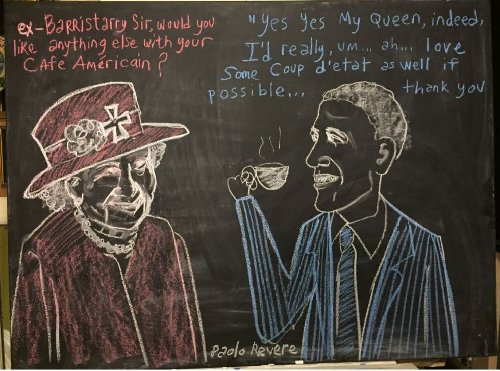 coup obama queen chalk.JPG
