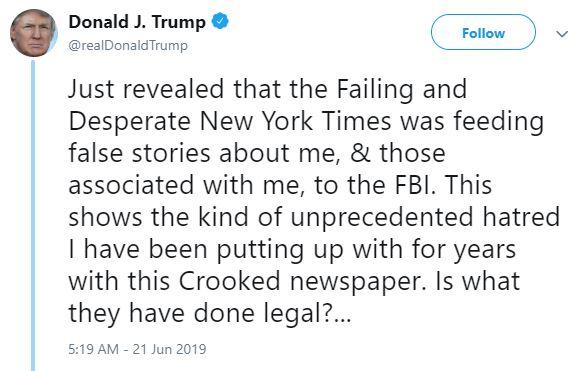 failing nyt trump