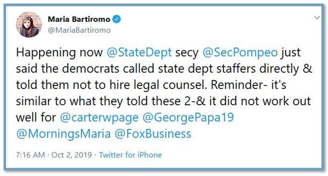 bartiromo tweet