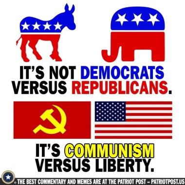democrats republicans communists