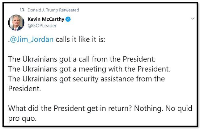 jim jordan quid pro quo