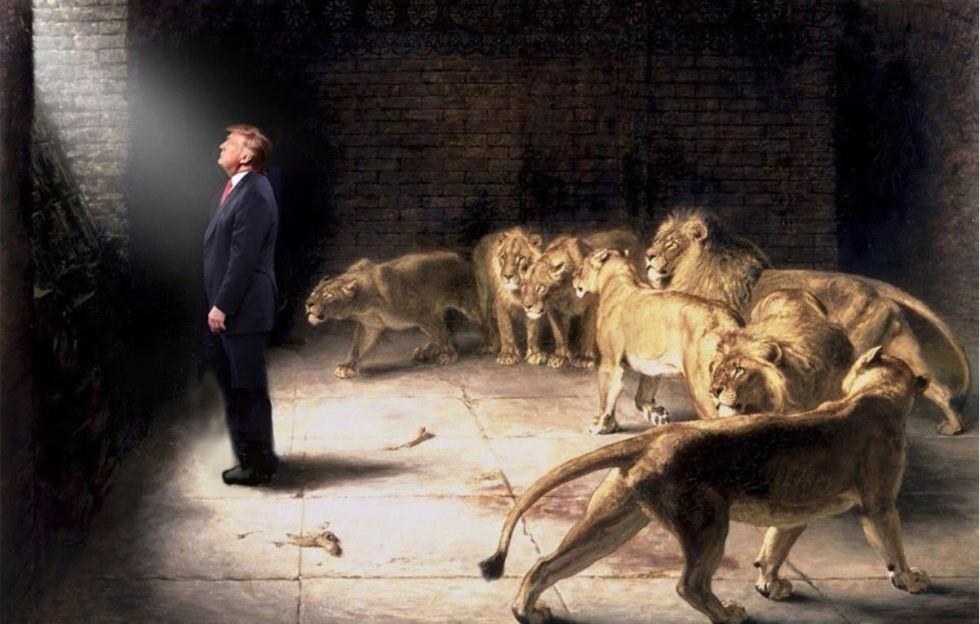 trump lion den