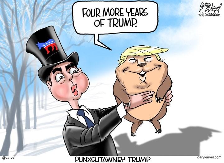 trump ground hog