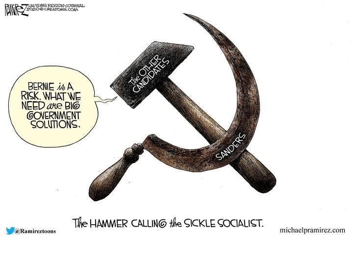 bernie sanders socialism hammer sickle