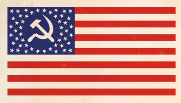 communist american flag