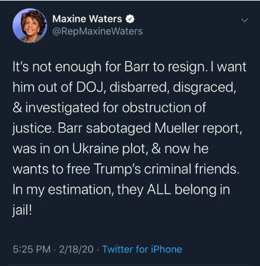 maxine waters
