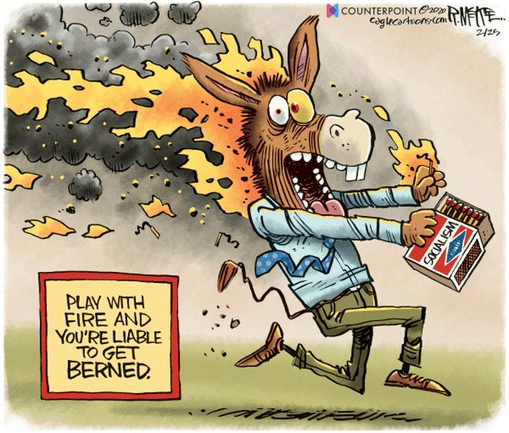 socialism fire bernie sanders