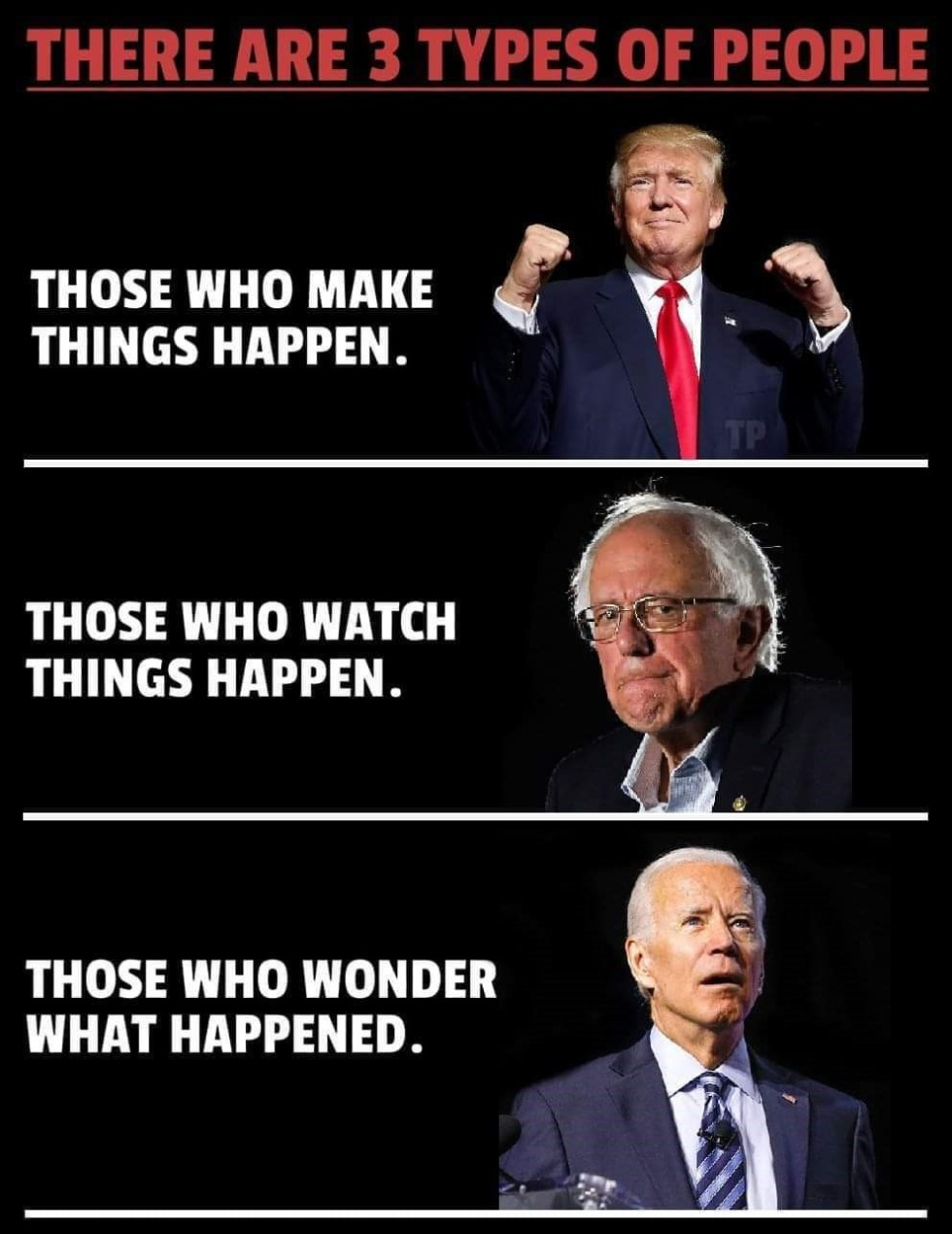 trump sanders biden things happen