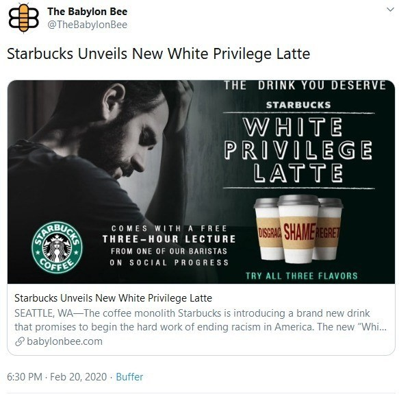 babylon bee starbucks