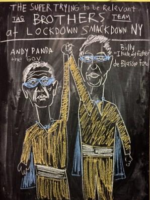 chalk new york lock down