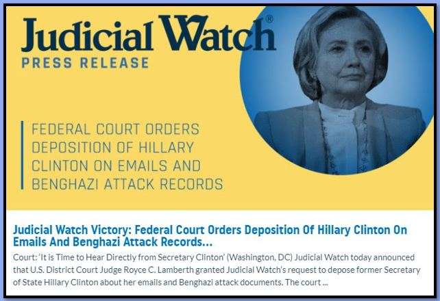 judicial watch hillary clinton