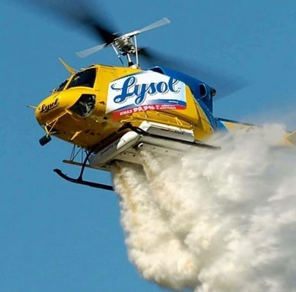 lysol helicopter