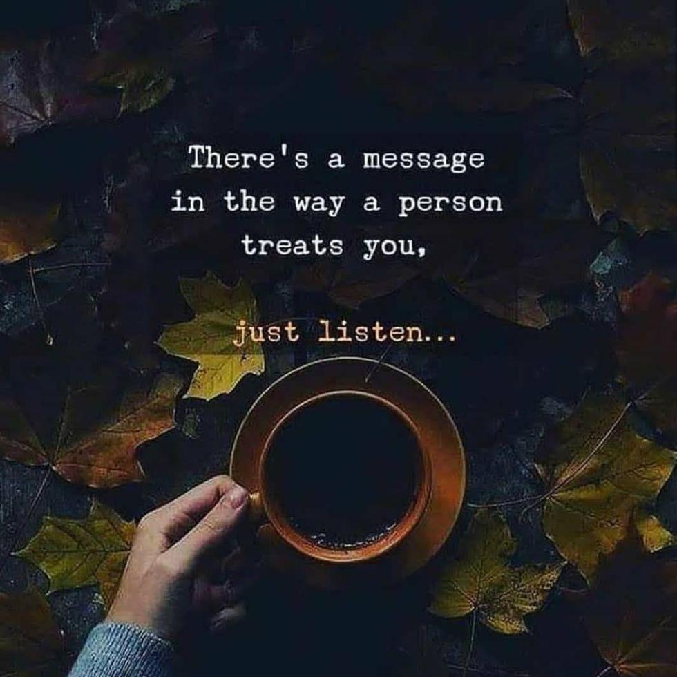 person treats you