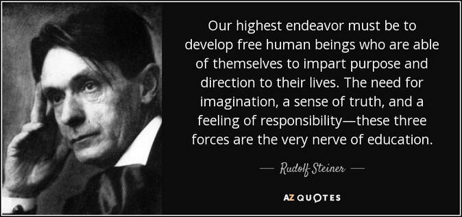 rudolf steiner free humans education