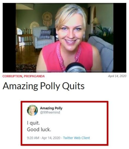 amazing polly quits