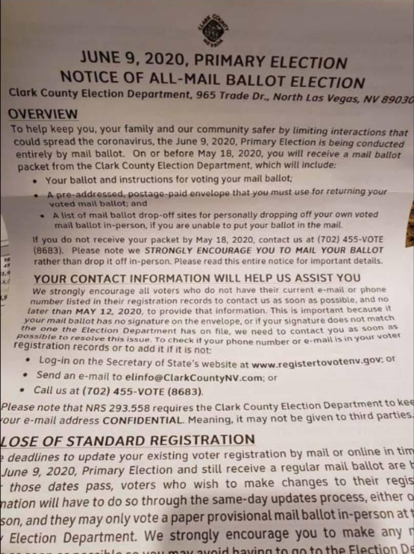 ballot mail nevada