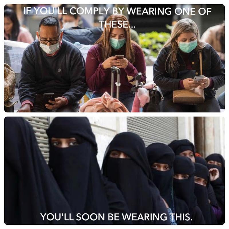 burka hijab muslim corona