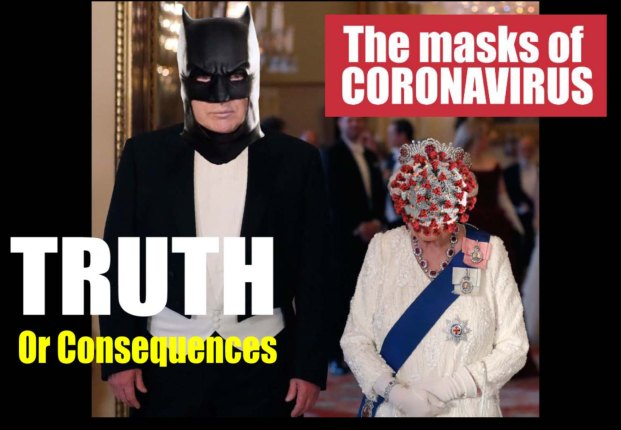 coronavirus masks queen trump