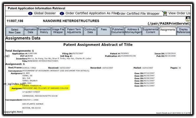 nanowire patent 2