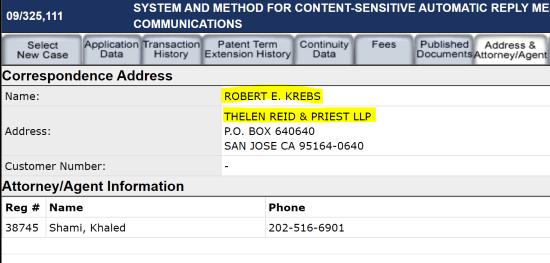 robert krebs patent