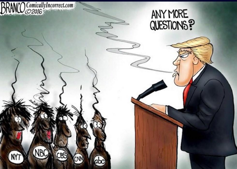 trump fake news branco